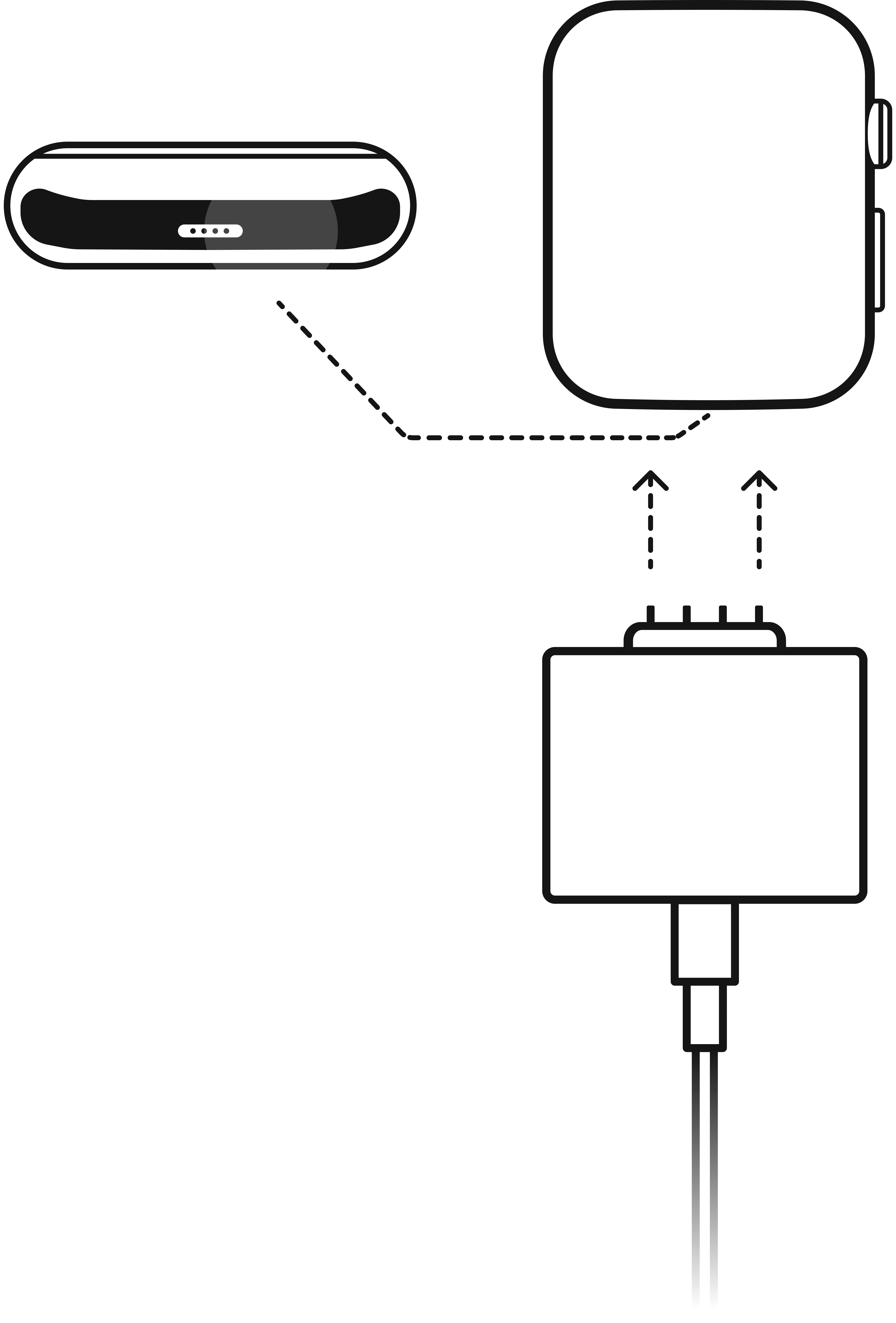 Connect your Apple Watch via Data Cable adapter