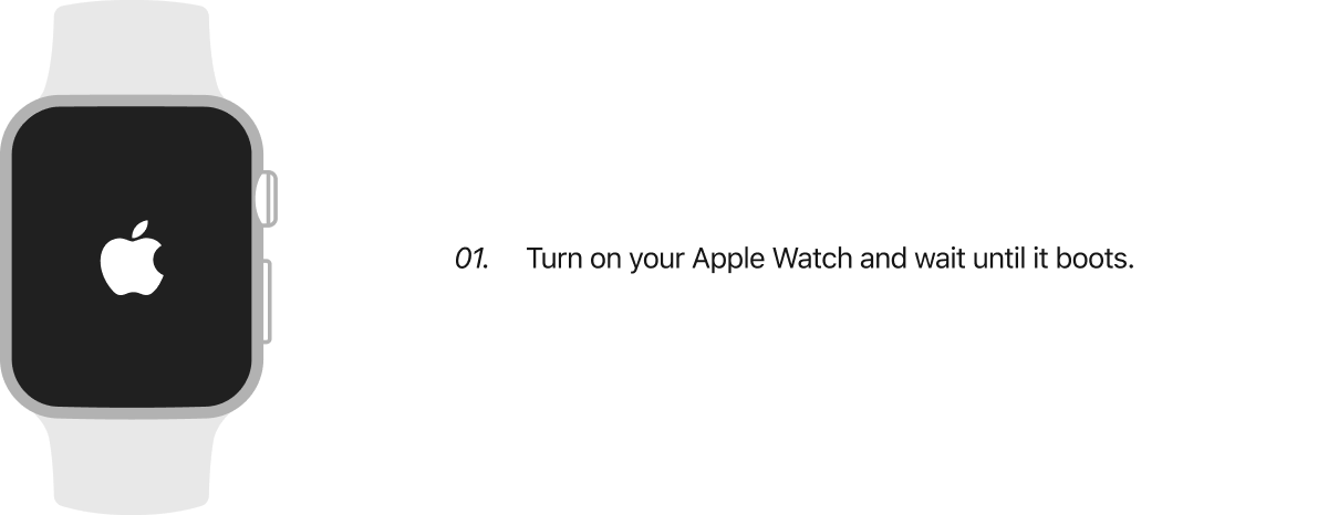 DFU Mode Apple Watch  Step 1.