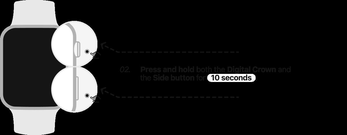 DFU Mode Apple Watch  Step 2.