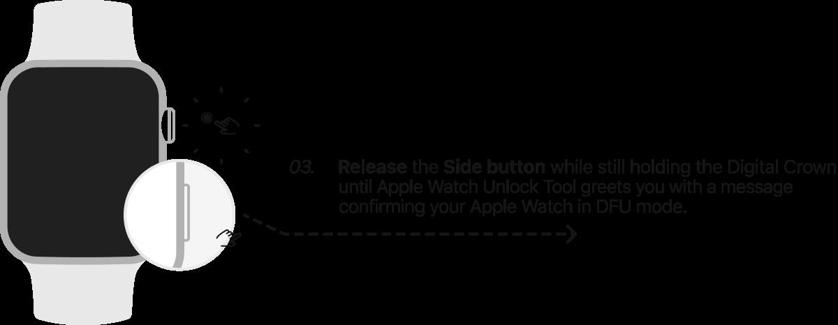 DFU Mode Apple Watch  Step 3.