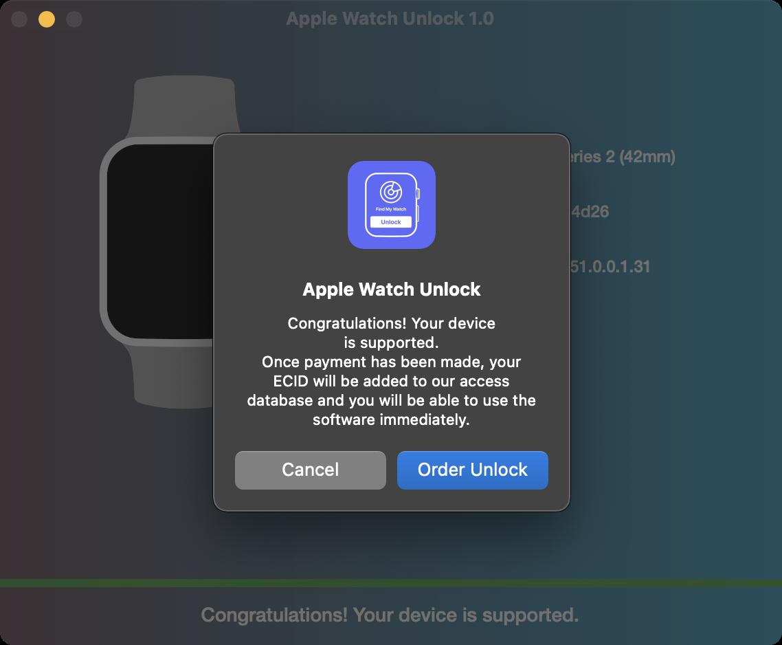 Order Apple Watch Unlock Service