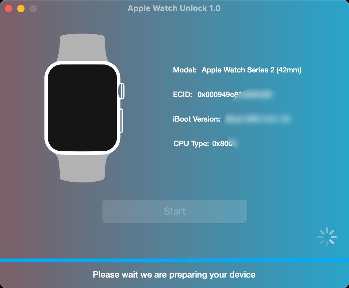 Prepare to Remove iCloud Activation Lock on Apple Watch via Unlock Tool