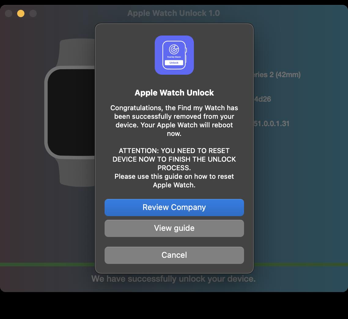 Review Apple Watch Unlock Tool