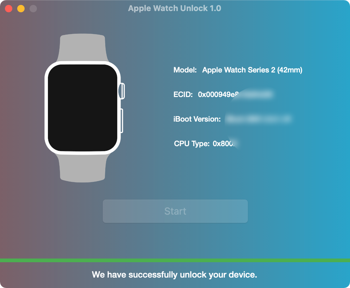 Removing iCloud Activation Lock on Apple Watch Done